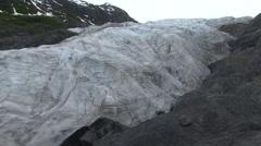 Mountain Kenai Fjords National Park Summer Glacier - stock footage