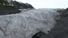 Mountain Kenai Fjords National Park Summer Glacier Pan - stock footage