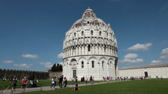 Pisa Italy Baptistry tourism HD Stock Footage