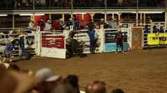bull rider in rodeo slow motion - stock footage