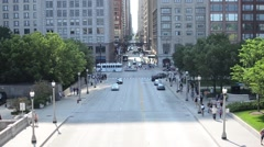 daytime street in downtown Chicago - stock footage