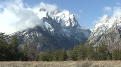 Mountain Grand Teton National Park Fall Stock Footage