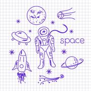 Space vector objects Stock Illustration