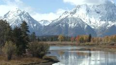 Mountain Grand Teton National Park Fall Water - stock footage