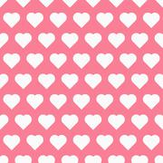 Seamless pattren with hearts Stock Illustration