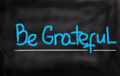 be grateful concept - stock illustration