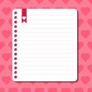 vector background with hearts and space for text - stock illustration