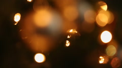 Roll Focus Christmas Ornament Stock Footage