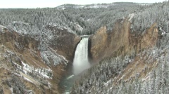 River & Stream Yellowstone National Park Fall Yellowstone River Waterfall - stock footage
