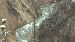 River & Stream Yellowstone National Park Fall Yellowstone River Falls - stock footage