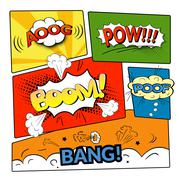 Comic bubbles vector isolated set Piirros