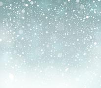 Snow theme background - illustration. Stock Illustration