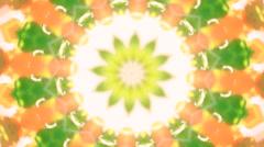 Beautiful kaleidoscopic circle pattern of green foliage. - stock footage