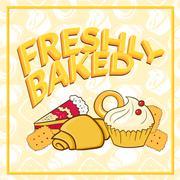 fresh baked vector illustration - stock illustration