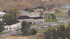 Recreation Yellowstone National Park Fall Mammoth Hot Springs Visitor Center Stock Footage