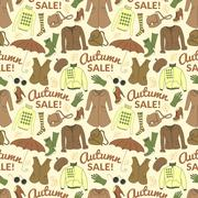 Autumn sale seamless pattern with season women clothes Stock Illustration