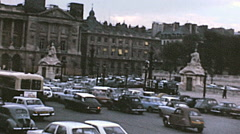 Paris 1971: heavy traffic in the city centre - stock footage