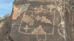 History Albuquerque Petroglyph Rock Painting Indian Stock Footage