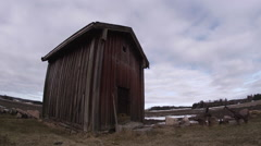 Old barn timelapse Stock Footage