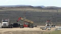 Land Use  Spring Oil Energy Development Stock Footage