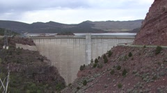 Land Use Flaming Gorge Reservoir Spring Dam Stock Footage