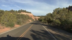 Desert Colorado National Monument Spring Driving Highway - stock footage