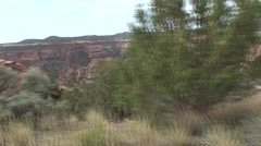 Desert Colorado National Monument Spring Coke Ovens Tracking - stock footage