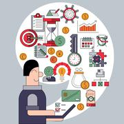 Stock Illustration of Time management concept