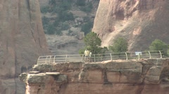 Recreation Colorado National Monument Spring Canyon Overlook Zoom Out Stock Footage