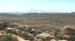 Recreation Arches National Park Spring Driving Sight-seeing - stock footage