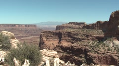 Desert Canyonlands National Park Spring Canyon Cliffs Western - stock footage