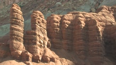 Desert Capital Reef National Park Spring Geology Zoom Out - stock footage