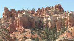 Desert Bryce Canyon National Park Spring Hoodoo Hoodoos Stock Footage
