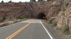 Recreation Colorado National Monument Spring Driving Tunnel - stock footage