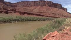 Recreation Colorado River Spring Rafting - stock footage