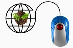 computer mouse environmental concept - stock photo