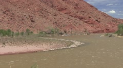 Recreation Colorado River Spring Rafting Rafts - stock footage