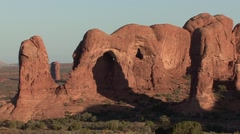 Desert Arches National Park Spring Rock Outcropping - stock footage