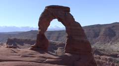 Desert Arches National Park Spring Delicate Arch People Stock Footage
