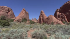 Desert Arches National Park Spring - stock footage