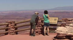 Recreation Canyonlands National Park Spring Sight-seeing - stock footage