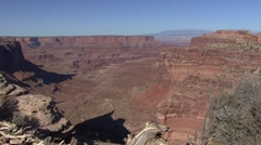 Desert Canyonlands National Park Spring Canyon - stock footage