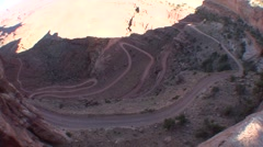 Land Use Canyonlands National Park Spring Road Roads Mountain Winding - stock footage
