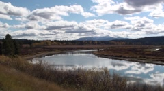 River & Stream Yellowstone National Park Fall Snake River - stock footage