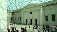 British Museum 1The British Museum London UK - stock footage