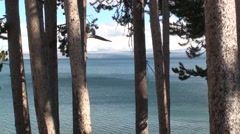 Lake & Pond Yellowstone National Park Fall Yellowstone Lake - stock footage