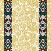 Lace border stripe in ornate floral background Stock Illustration