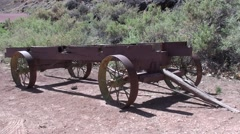 History Capital Reef National Park Spring Wagon Cultural Resource - stock footage