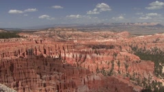 Desert Bryce Canyon National Park Spring Hoodoos Pan - stock footage
