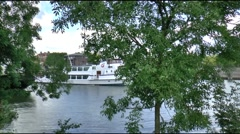 Ferry is leaving the harbour of Enkhuizen Stock Footage